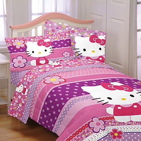 hello kitty bedding and bath collection bed bath beyond. Black Bedroom Furniture Sets. Home Design Ideas