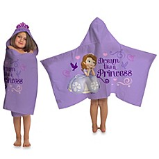 image of Disney® Sofia the First Cape-Style Hooded Towel