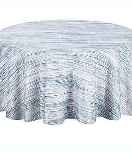 Mantel redondo para mesa Noritake® a rayas en azul