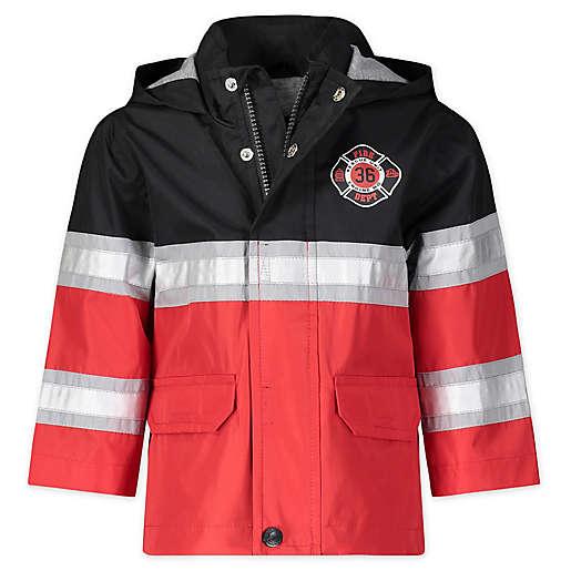 London Fog Size 4T Fireman Hooded Rain Jacket (Red)