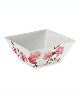 Tazón cuadrado grande Cherry Blossom Photoreal de melamina