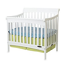image of Child Craft™ Coventry Mini 4-in-1 Convertible Sleigh Crib in White