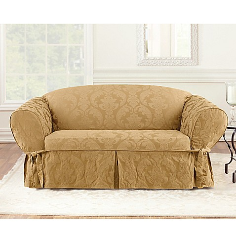 Charmant Sure Fitu0026reg; Matelasse Damask 1 Piece Sofa Slipcover