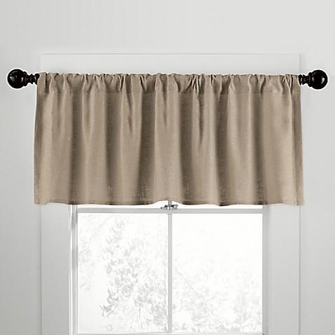 Citylinen Linen Rod Pocket Window Curtain Valances Bed