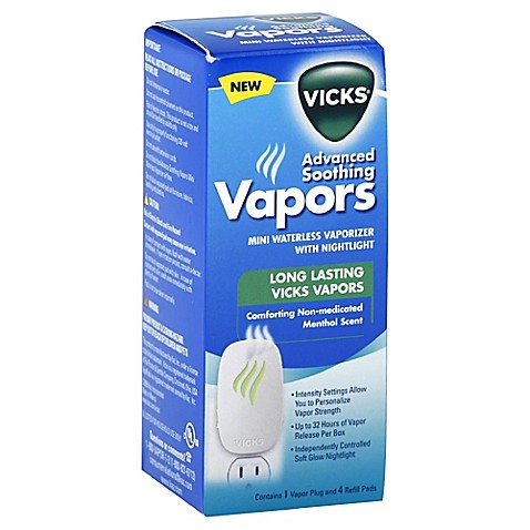 Vicks 174 Advanced Soothing Vapors Waterless Vaporizer With 4