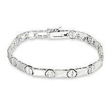 image of Sterling Silver Nail Head Bracelet