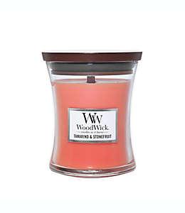 Vela mediana en vaso WoodWick® aroma tamarindo y fruta