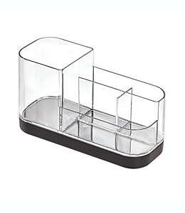 Organizador para tocador de plástico iDesign® Ilese color negro mate