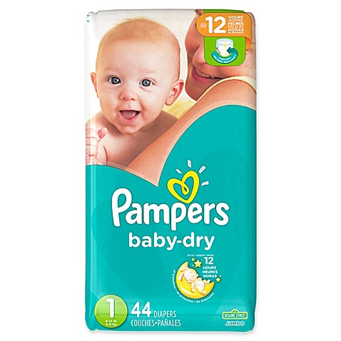 Pampers 174 Baby Dry 44 Count Size 1 Jumbo Pack Disposable