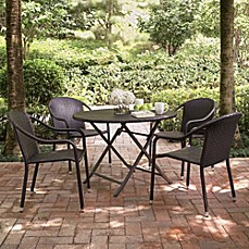 Outdoor patio dining sets dining tables chairs bed - Bed bath and beyond palm beach gardens ...