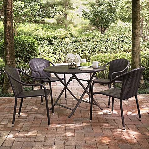 Crosley Palm Harbor 5 Piece Outdoor Cafe Dining Set