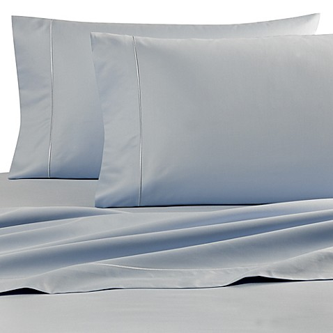 buy wamsutta finest sateen 725 thread count twin extra long flat sheet in light blue from bed. Black Bedroom Furniture Sets. Home Design Ideas