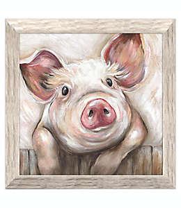 Cuadro decorativo de poliestireno Lola Pig de cerdito de 48.89 cm