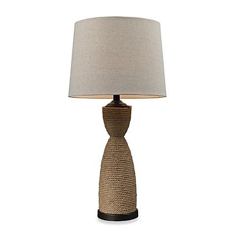 natural rope table lamp in dark brown bed bath beyond. Black Bedroom Furniture Sets. Home Design Ideas