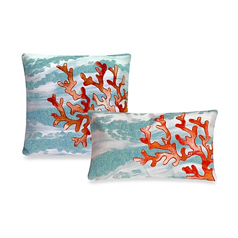 Liora Manne Outdoor Throw Pillow Collection In Coral Wave