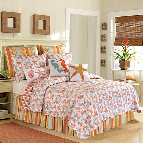 Buy Catalina King Quilt In Coral From Bed Bath Amp Beyond