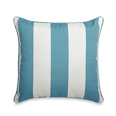 20-Inch Square Throw Pillow in Cabana Stripe - Bed Bath & Beyond