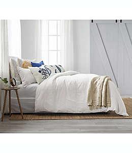 Set de edredón king Bee & Willow™ a rayas con encaje de lino en coco, 3 piezas