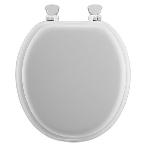 Round Soft Toilet Seat With Durable Wood Core Bed Bath