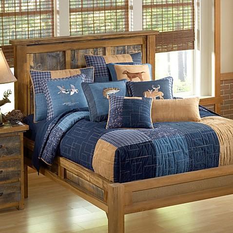 Donna Sharp Denim Square Quilt Bed Bath Amp Beyond