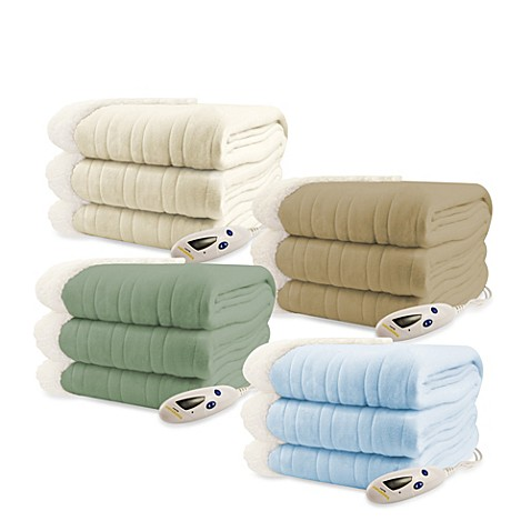 Bed Beyond Sherpa Electric Heated Throw Blanket