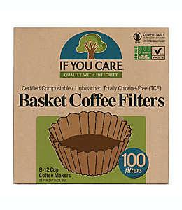 Filtros para café rendimiento de 12 tazas 100 piezas If You Care ®