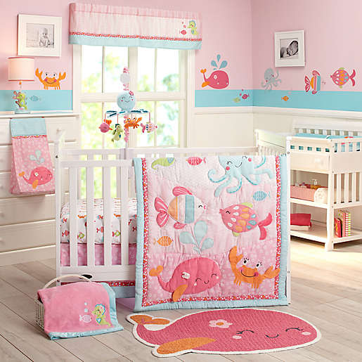 Under The Sea 4 Piece Crib Bedding Set, Baby Bedding Under The Sea