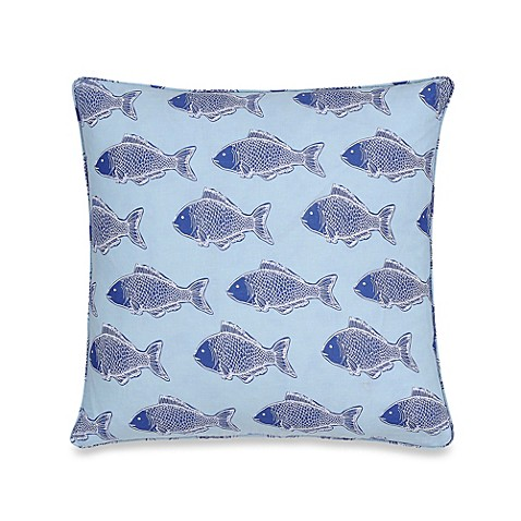 Bed Bath And Beyond Blue Throw Pillows : Hampton Clam Square Throw Pillow - Bed Bath & Beyond
