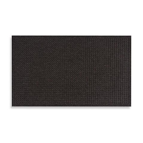 Textures Squares 36 Inch X 48 Inch Door Mat In Onyx