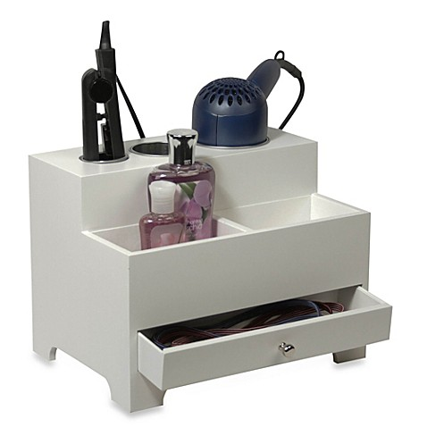 Hair Styling Caddy Personal Hair Styling Organizer In White  Bed Bath & Beyond