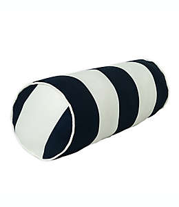 Cojín decorativo bolster One Kings Lane Open House™ Cabana Stripe para interiores/exteriores en azul marino