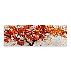 image of Red Embellished Canvas Tree 60-Inch x 20-Inch Wall Art