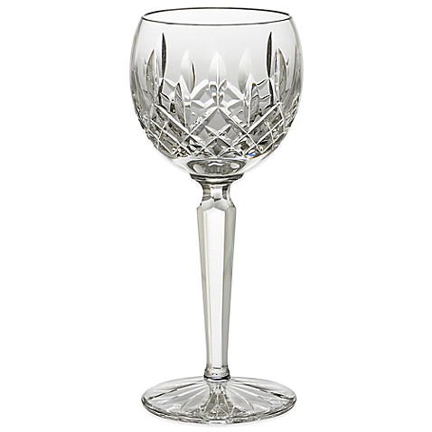 Waterford lismore hock wine glass bed bath beyond - Waterford colored wine glasses ...