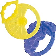image of Chicco® NaturalFit™ Lemon-and-Grape- Shaped Silicone Teether (2-Pack)