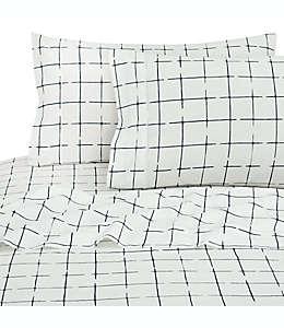 Set de sábanas individuales de algodón SALT™ Window Dash color azul marino