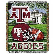 image of Texas A&M University Tapestry Throw Blanket