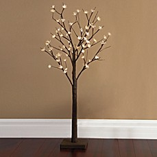 Image Of Plug In 4 Foot Led Lighted Cherry Blossom Tree