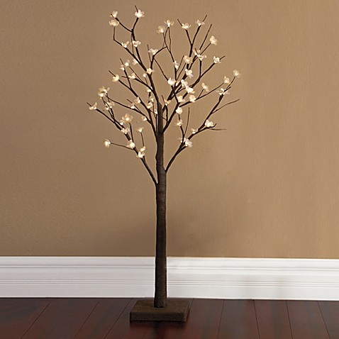 Plug In 4 Foot Led Lighted Cherry Blossom Tree Bed Bath