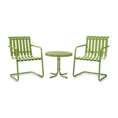 image of Crosley Gracie 3-Piece Metal Outdoor Seating Sets