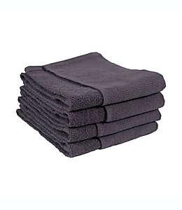 Toallas de usos múltiples para cocina de algodón SALT® color grafito, Set de 4