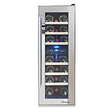 image of Vinotemp® 21-Bottle Dual Zone Mirrored Wine Cooler