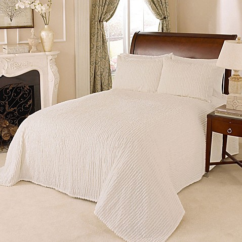 Buy Channel Chenille Full Bedspread In White From Bed Bath