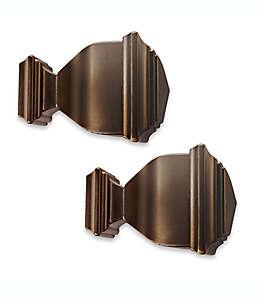 Terminales de zinc moldeado para ventanas Cambria® Napoleón Premier Complete color bronce aceitado Set de 2