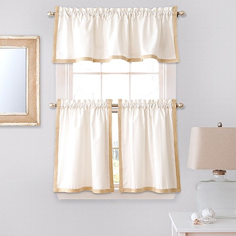 Buy Seaview 36 Inch Window Curtain Tier Pair In White From Bed Bath Beyond