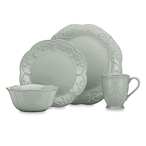 Lenox 174 French Perle Dinnerware Collection In Grey Bed