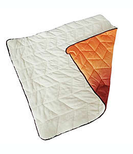 Frazada de poliéster Wamsutta® Puffer color naranja