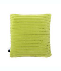Cojín afelpado UGG® color verde azufre