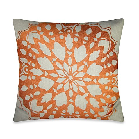 Bed Bath And Beyond Orange Throw Pillows : Buy Rangoli Square Throw Pillow in Orange from Bed Bath & Beyond