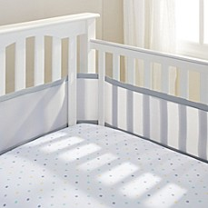 image of BreathableBaby® Mix & Match Breathable Mesh Crib Liner in Grey Mist