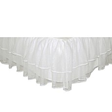 image of Tadpoles™ by Sleeping Partners Tulle Triple Layer Twin Bed Skirt in White